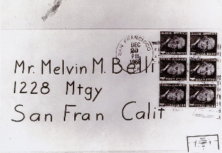 front of envelope 12-20-69