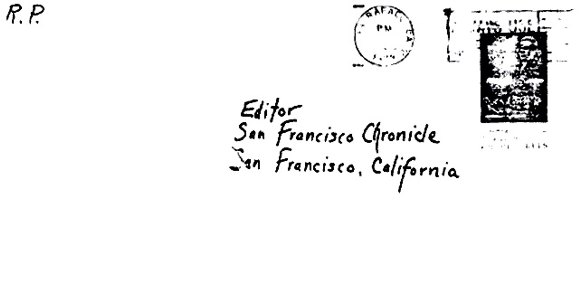 front of envelope 07-08-74