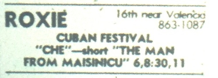 Roxie Theater listing 10-08-76